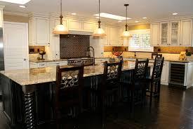 furniture black wooden kitchen islands and dark brown wooden kitchen chairs on black wooden floor