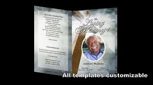 how to create a memorial program template on ms word funeral how to customize a funeral program template