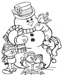 Frosty The Snowman Coloring Page Christmas