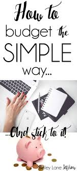 How To Budget The Simple Way | Free Printables | Birkley Lane Interiors