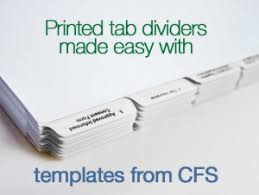 Printed Tabs Made Easy Use Templates For Quick Custom