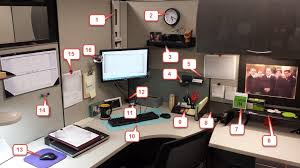 image image office cubicle. If You Want To Add Some Class Your Own #cubicle, This Article Will Show Off A Cubicle Transformation And Detail Each Item In Legend Beneath Image Office