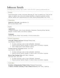 Resume Outline Word Free Resume Outline Template Model Of Free ...
