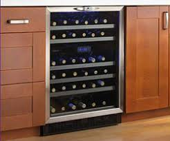 under counter wine fridge. Perfect Under Danby Silhouette DWC516BLS 51bottle Under Counter Wine Cooler With Two  Temp Zones In Wine Fridge Cooler Expert