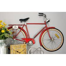 on bike wall decor with basket with cole grey metal bicycle wall d cor reviews wayfair