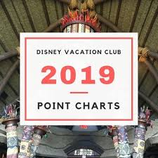 Dvc Vacation Club Point Chart Just Released 2019 Dvc Point Charts Vacations Disney