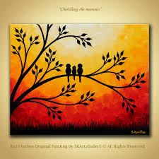 simple landscape paintings sunset with birds image result for wine and canvas painting ideas paintings