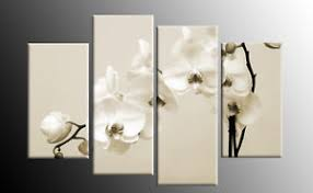 image is loading cream beige white sepia orchids canvas wall art  on orchid canvas wall art with cream beige white sepia orchids canvas wall art picture 4 panel