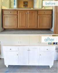 diy refinishing bathroom vanity. bathroom vanity upgrade diy refinishing a