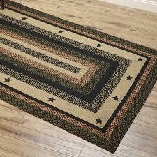 country style braided jute rugs star black appliqued tartan star appliqued jute area rugs