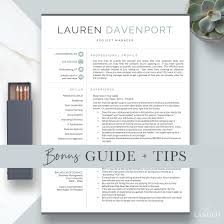 Modern Resume Template Bundle 1 2 3 Page Resume Template Etsy