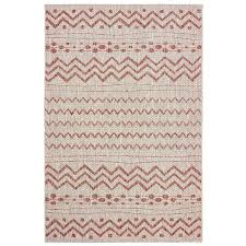 8 x 10 large beige and red indoor outdoor rug sun shower rc willey furniture