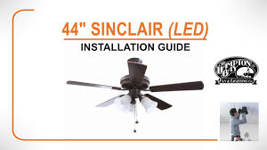 44 sinclair led ceiling fan installation guide