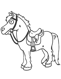 Small Picture Horse Cartoons For Kids Coloring Home