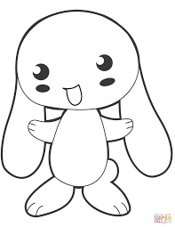 Bunny Color Pages Cute Anime Coloring Page Free Printable 11591500