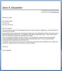 Housekeeping Manager Cover Letter Sample Housekeeper Cover Letter     No Experience