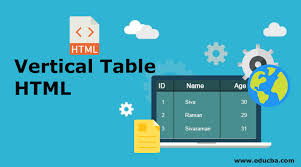 vertical table html know how to