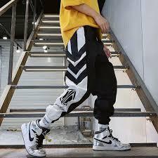 <b>Streetwear</b> Harem <b>Pants Men</b> Elastic Waist Punk <b>Pants</b> Casual Slim ...