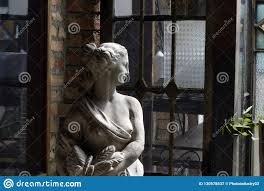 Woman Sculpture Light Sculpture In Half Naked Woman S Plaster Stock Image Image