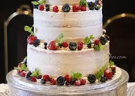 Semi Naked Sugared Berries Winter Wedding Cake Rose Bakes