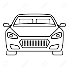 Car Outline Design Front Modern Car Icon Outline Front Modern Car Vector Icon For