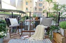balcony design furniture. Colorful Accents For Small Balcony Decorating In Swedish Style Design Furniture
