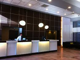 best modern front desk design house decorating inspiration reception chandelier man computer awesome high quality material