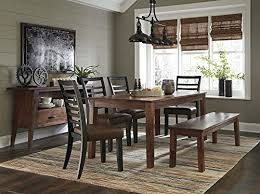 Design For Dining Room Custom Amazon Signature Design Manishore Brown Wood Dining Bench By