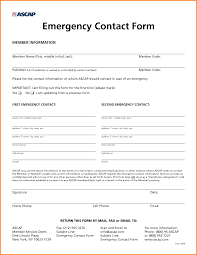 Emergancy Contact Sheet Emergency Contact Form Template For Employees