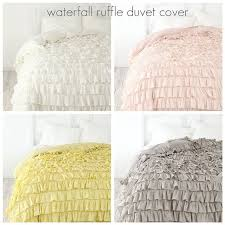 waterfall ruffle duvet cover by lilacsilhouette via flickr