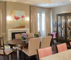 nailhead dining chairs dining room. Nailhead Dining Chairs Room Traditional With Beige Wall Dark Wood Chair Floral Art