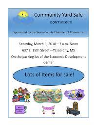 Community Yard Sale Flyer 3 Wbyp Fm Power 107