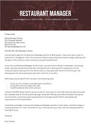Resume Restaurant Manager Restaurant Manager Cover Letter Example Resume Genius