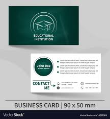 Business Card Template With Blackboard Texture