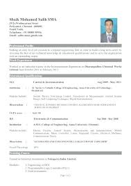 Resume Format For Engineers Best Format For Engineers Resume Format