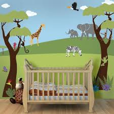 jungle wall mural on jungle wall art for baby room with jungle wall mural kit wild jungle safari stencil kit