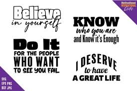 Beautiful svg designs for inspiration. Motivational Quotes Svg Bundle Graphic By Saudagar Creative Fabrica
