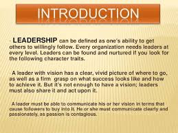 Qualities Of A Good Team Leader Team Leader Introduction Good Definition Term Paper Sample