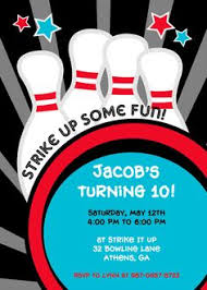 Bowling Party Invitation 74 Best 09 Bowling Invites Images Invitations Invites