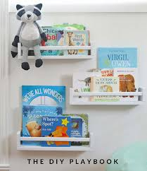here is another ikea diy bookshelf perfect for the nursery or a kids room made from ikea e racks the diy playbook show exactly how to create