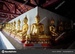 Min Goud Boeddha Hoek Van Tempel Thailand Stockfoto Seenadee