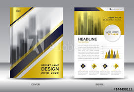 Company Report Template New Business Brochure Flyer Templater Gold Cover Design Annual Report