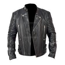brando biker black leather jacket home popular