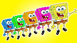 Five Little Spongebob Jumping on the Bed | 5 Little Monkeys Jumping on the  bed Song - YouTube