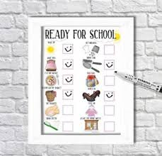 Adhd Morning Routine Chart Details About School Routine Checklist Reward Chart Morning Routine Adhd Autism Pecs