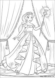 Princess Elena Of Avalor Colouring Page Disney ソフィアエレナ