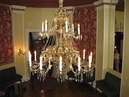 gilt bronze chandelier restoration for club