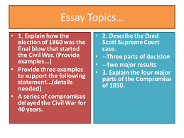 chapter slavery divides the nation ppt video online  41 essay topics
