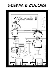 Disegni Da Colorare La Ricreazione A Scuola Bambinopoli