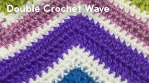 Double Crochet Chevron Pattern Extraordinary How To Double Crochet A Wave Afghan Tutorial The Crochet Crowd